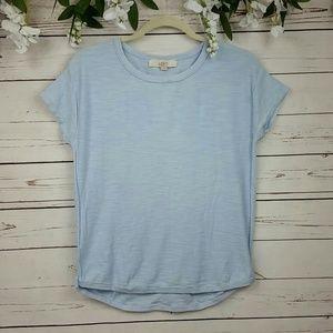 Ann Taylor LOFT Sky Blue T-shirt